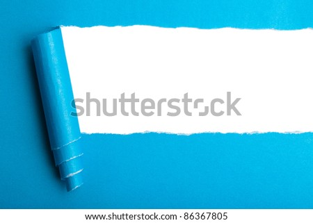 Torn paper with space for text. - stock photo