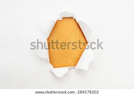 Torn paper with yellow space - stock photo