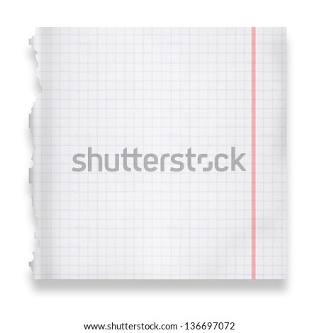 Torn piece of paper - stock photo