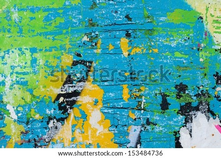 Torn posters / Peeling paint / Abstract / Graffiti / Ripped paper - stock photo