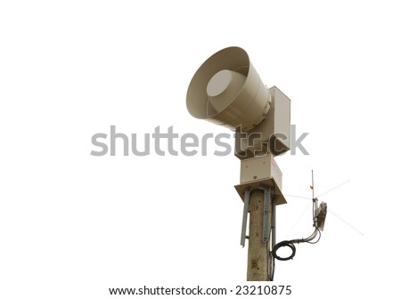 tornado alarm - stock photo