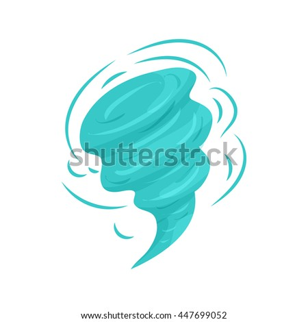 Tornado icon in cartoon style on a white background - stock photo