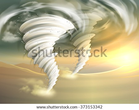 Tornado Swirls Illustration - stock photo