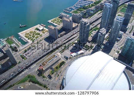 Toronto Aerial View, Canada - stock photo