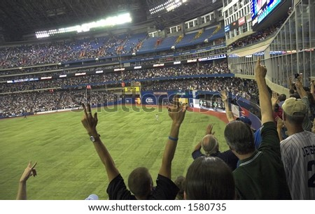 Toronto Blue Jays win against Yankees on a home run at Rogers Centre (formerly Skydome)