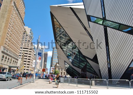 TORONTO, CA - JUNE 06: The Royal Ontario Museum on June 06, 2010 in Toronto, Canada. Canada's largest museum of world culture and natural history with millions of visitors every year. - stock photo