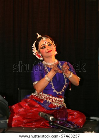 TORONTO, CANADA - JULY 17: The folk dancer takes part in 38-th annual  Festival of India  July 17, 2010 in Toronto, Canada.