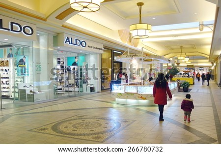 TORONTO, CANADA - MARCH 25, 2015: An indoor view of the Hillcrest Mall in Toronto, Canada. - stock photo