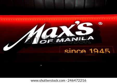 Toronto, Canada - May 16, 2011: Signage of Max's restaurant. - stock photo