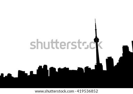 Toronto Canada skyline.  - stock photo