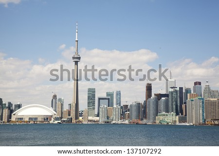 toronto city skyline - stock photo