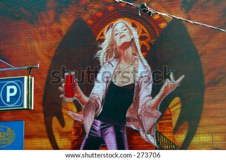toronto downtown mural - stock photo