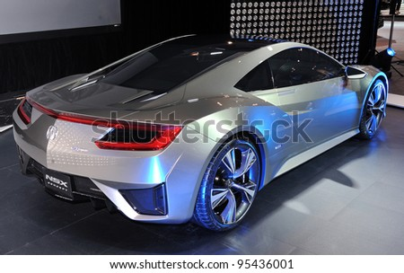 Torontofebruary 16 Acura Nsx Concept On Stock Photo Royalty Free