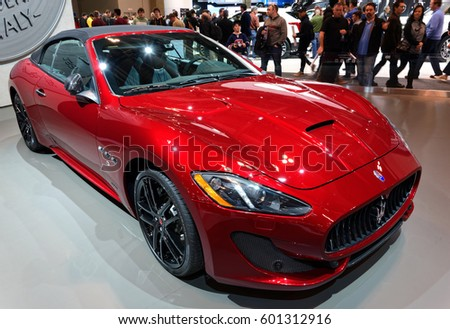 TORONTO FEBRUARY 25: At The 2017 Canadian International AutoShow The Maserati  GranTurismo Carries A