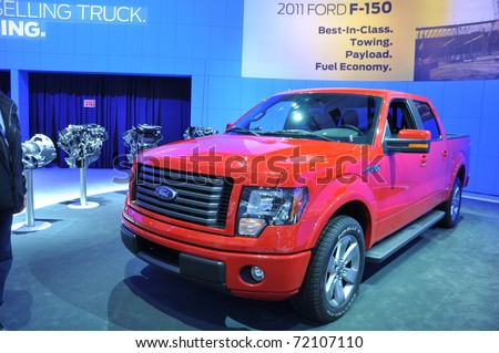 TORONTO - FEBRUARY 24: Ford F-150 at the 2011 Canadian International Auto Show on February 24, 2011 in Toronto, Ontario in Canada - stock photo