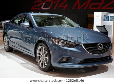 TORONTO-FEBRUARY 14: Mazda 6 Diesel at the 2013 Canadian International Auto Show on February 14, 2013 in Toronto - stock photo