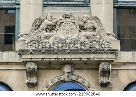 Toronto Harbour Commission Building - six storey building erected in 1917 in Toronto by Alfred Chapman for the locally run Toronto Harbour Commission. Canada. - stock photo