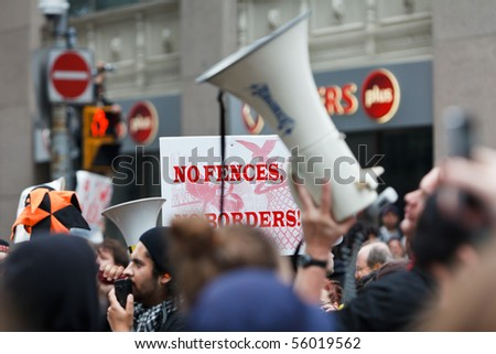 TORONTO - JUNE 26: Protests and riots against G20 summit  on June 26, 2010 in Toronto, Canada - stock photo