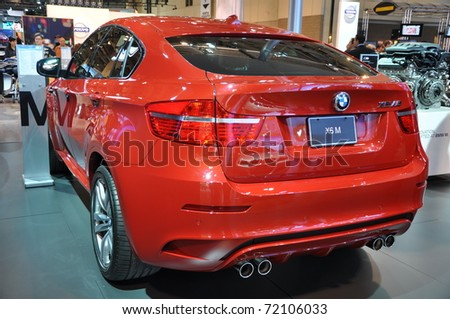 TORONTO, ON - FEB 24: BMW X6 at the International Canadian Auto Show on February 24, 2011 in Toronto, Ontario in Canada - stock photo