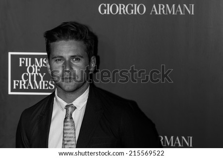 Toronto - September 6, 2014: Actor Allen Leech at The Giorgio Armani Films of City Frames Cocktail Party Black Carpet at CN Tower, TIFF 2014.