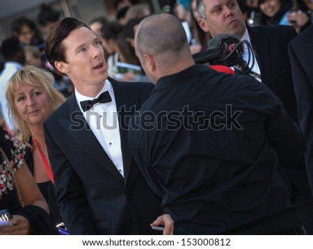 TORONTO - SEPTEMBER 5: Cast member Benedict Cumberbatch arrives for the premiere of The Fifth Estate at the 38th Toronto International Film Festival on September 5, 2013.