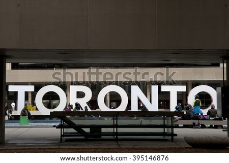 Toronto Sign at Nathan Phillips Square - Canada
