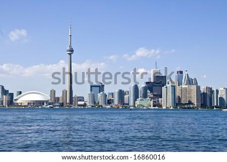 Toronto Skyline and the CN Tower - stock photo