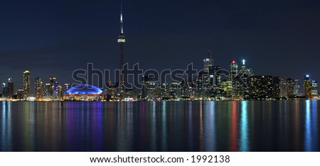 Toronto waterfront panorama - stock photo