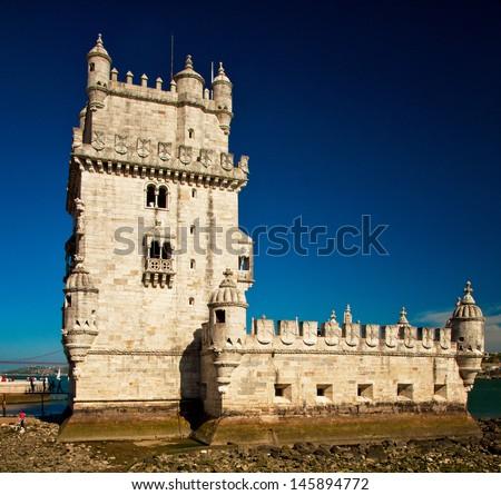 Torre de Belem (Belem tower) in Lisbon, Portugal - stock photo