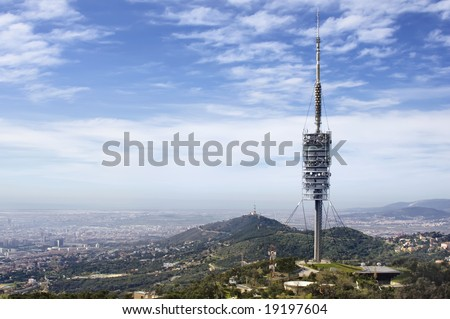Torre de Collserola (or Torre Foster) in the city of Barcelona, Spain