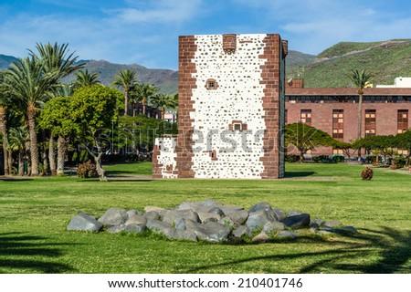 Torre del conde tower in San Sebastian de La Gomera. Canary islands, Spain. - stock photo