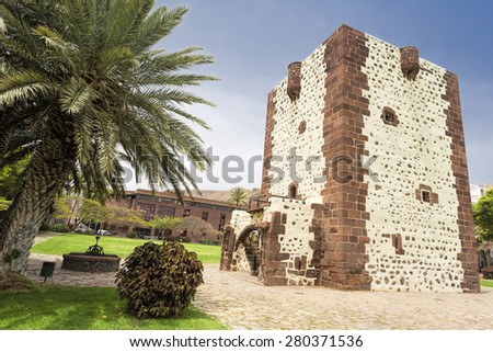 Torre del Conde tower on Gomera island, Spain - stock photo