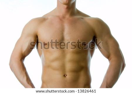 Torso athlete - stock photo