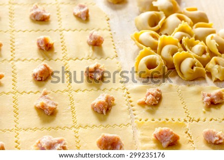 Tortellini Bolognesi - stock photo