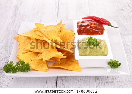 tortilla chips - stock photo