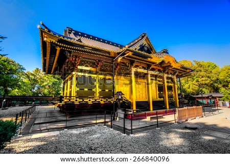 Tosho-Gu shrine in Ueno, Tokyo, Japan. - stock photo