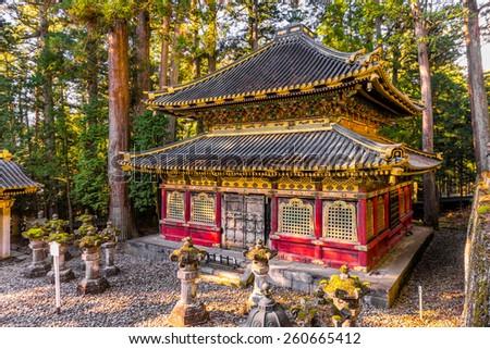 Toshogu Shrine at sunrise, Nikko, Japan. - stock photo