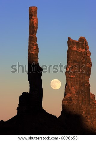 Totem Pole, Monument Valley - stock photo
