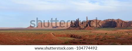Totem pole,Monument Valley Navajo Tribal Park, in Navajo country USA - stock photo