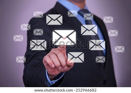 Touch Email - stock photo