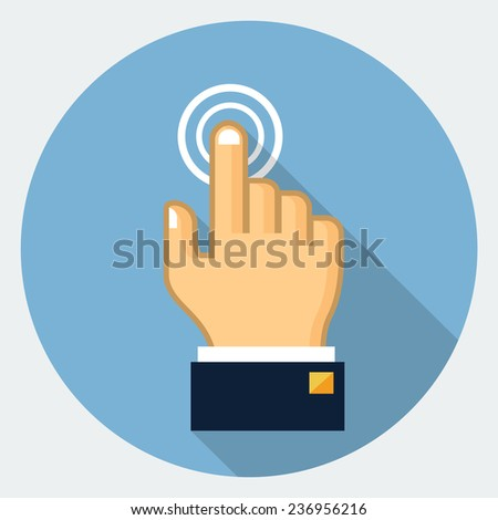 Touch finger icon - stock photo