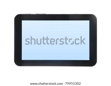 touch pad PC isolated on white background - stock photo