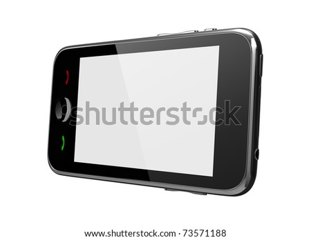 Touch Phone white screen side view  *** Also as FOOTAGE available in my portfolio - stock photo