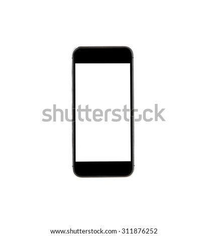 Touch screen mobile phone on white background. - stock photo