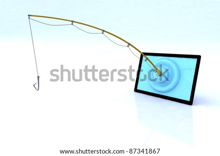 touch screen security concept 3d illustration - stock photo
