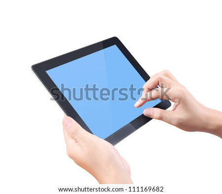 touch screen tablet and shows tablet