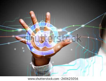 touch screen technology - stock photo