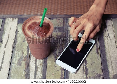 touch smart phone - stock photo