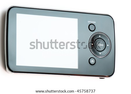 touchscreen multimedia smartphone on a white background. studio.