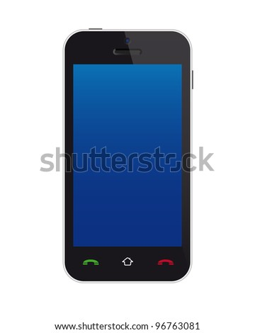Touchscreen phone. Vector available.